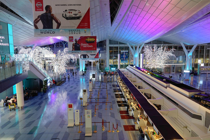 Aeroporto di Haneda, Giappone - aeroporto internazionale di Tokyo fotografia stock libera da diritti