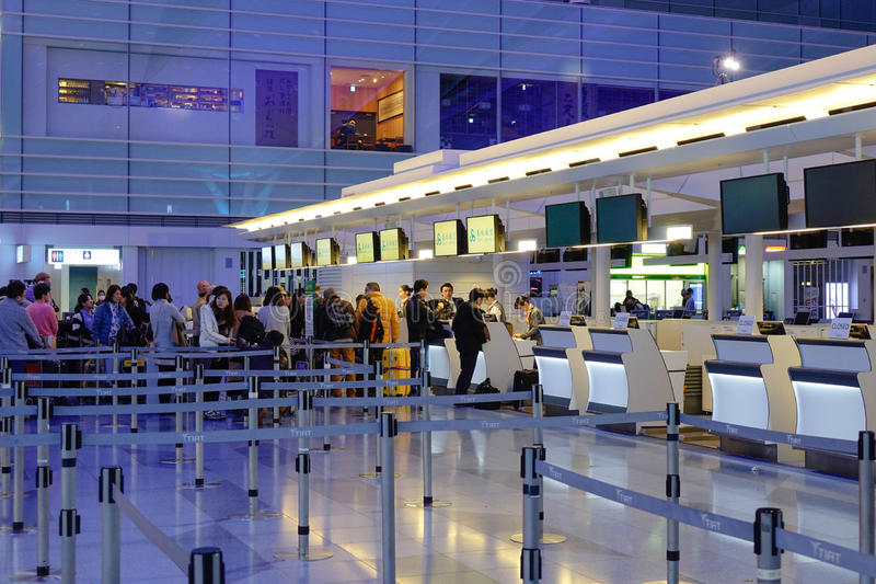Aeroporto di Haneda, Giappone - aeroporto internazionale di Tokyo immagine stock libera da diritti