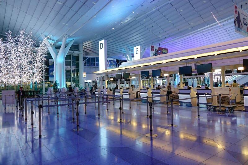 Aeroporto di Haneda, Giappone - aeroporto internazionale di Tokyo immagini stock libere da diritti