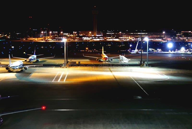 Aeroporto di Haneda a Tokyo nel Giappone fotografie stock