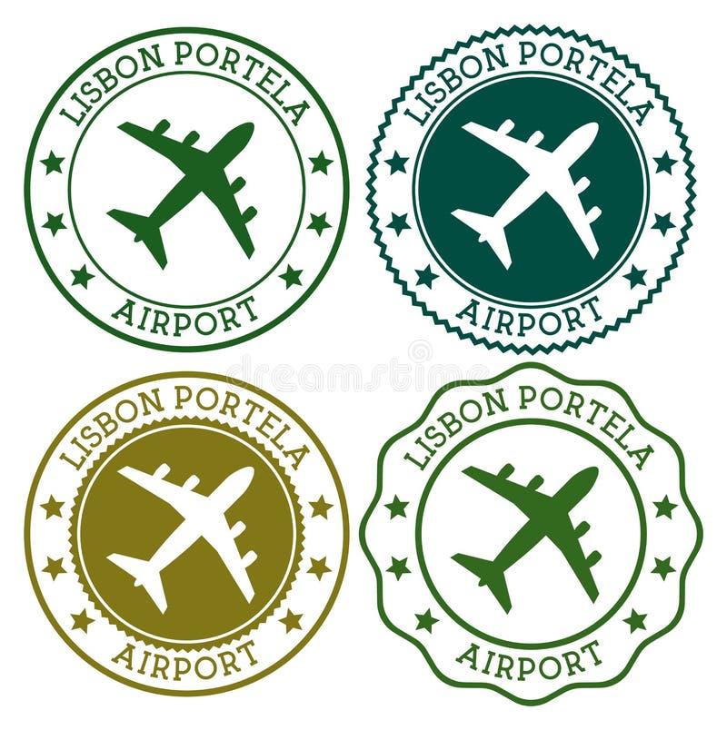 Aeroporto di Lisbona Portela illustrazione di stock