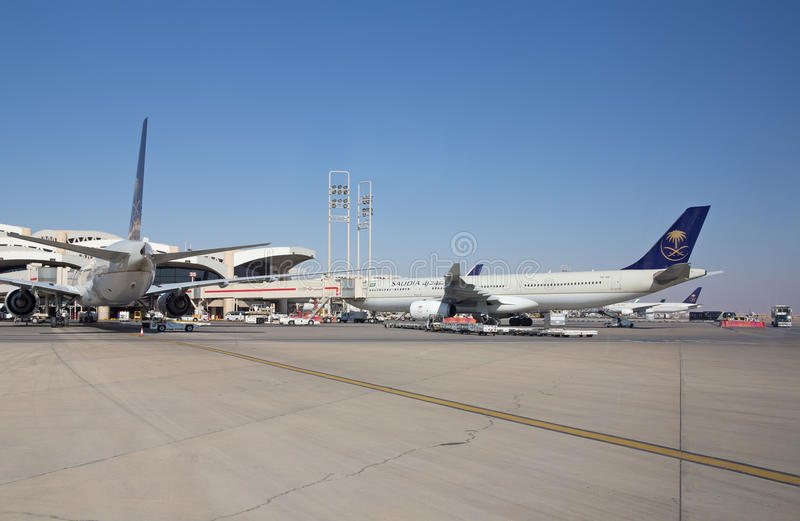 Aeroporto di Riyad immagine stock