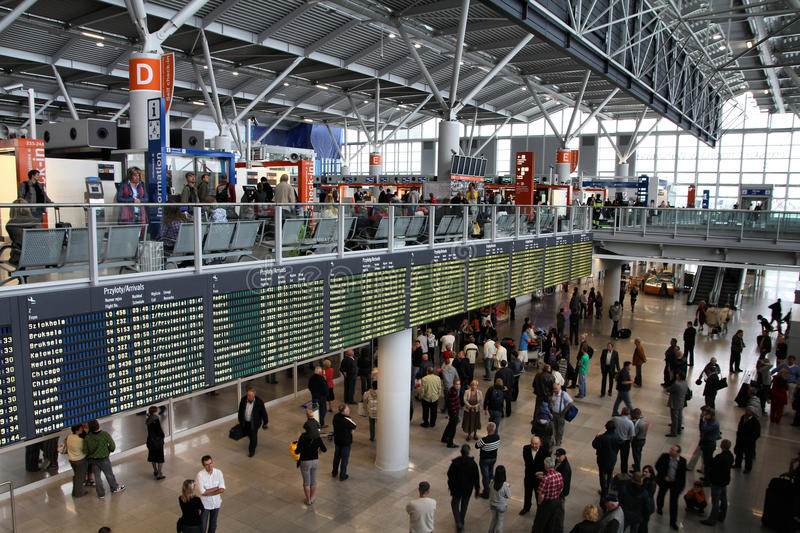 Aeroporto di Varsavia immagini stock libere da diritti