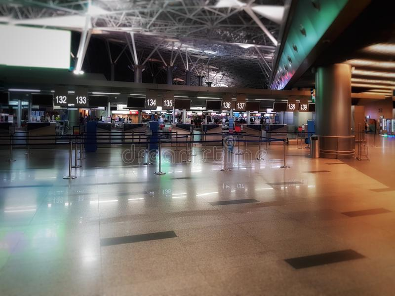Aeroporto di Vnukovo a Mosca fotografie stock