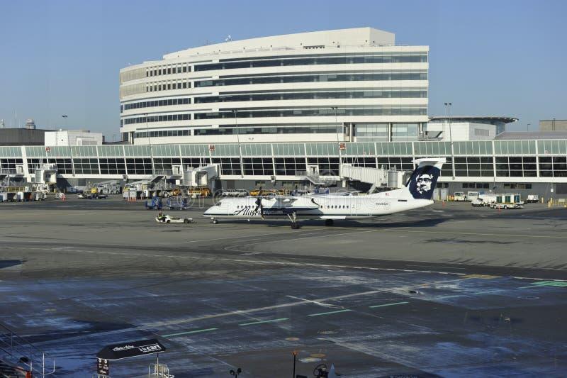 Aeroporto diSeattle-Tacoma, costruzione terminale principale immagine stock libera da diritti