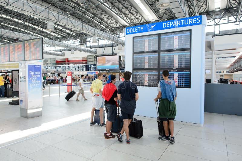 Aeroporto do interior de Praga foto de stock royalty free
