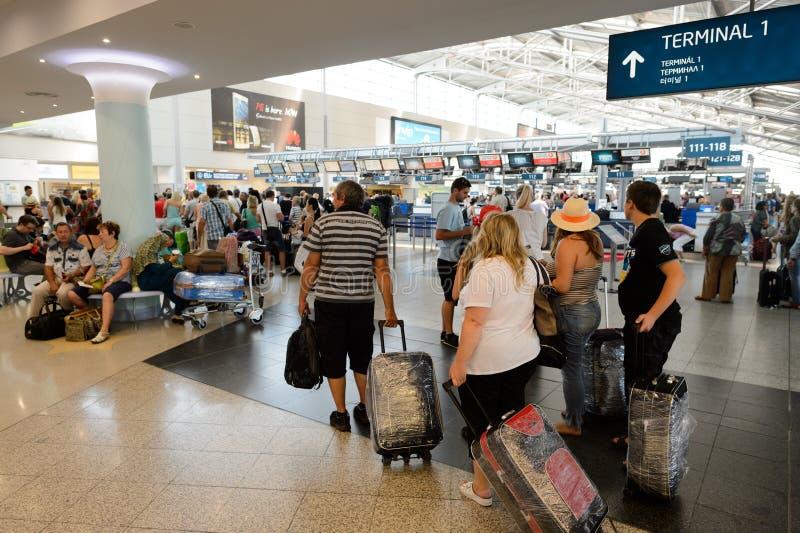 Aeroporto do interior de Praga fotografia de stock royalty free