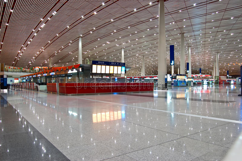 Aeroporto do internationl de Beijing imagens de stock royalty free