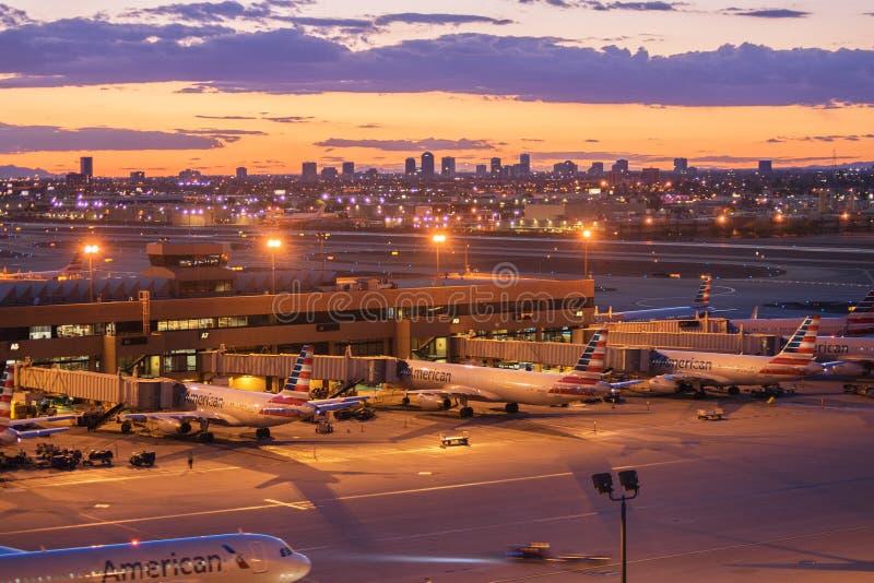 Aeroporto do porto do céu, Phoenix, AZ imagens de stock royalty free