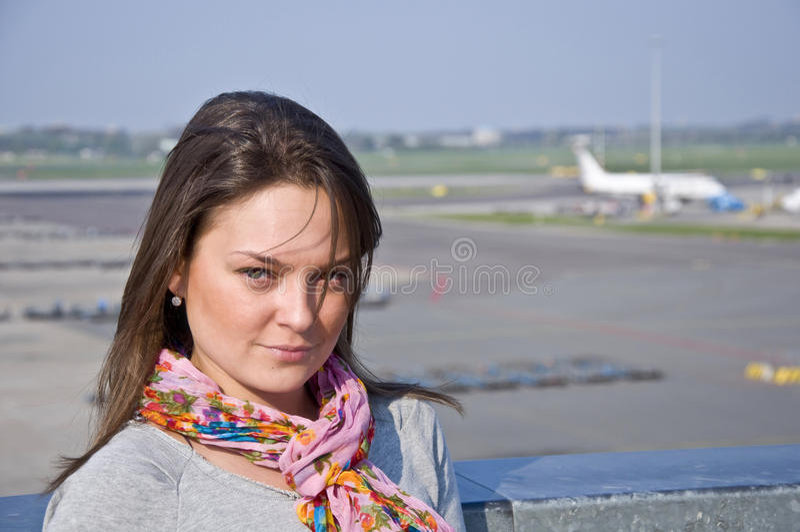 Aeroporto e aviões. fotografia de stock royalty free