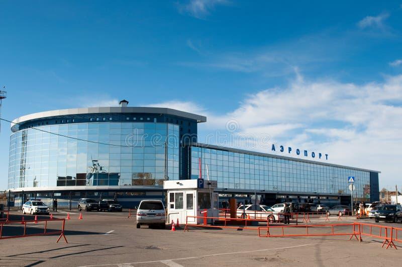 Aeroporto em Irkutsk fotos de stock