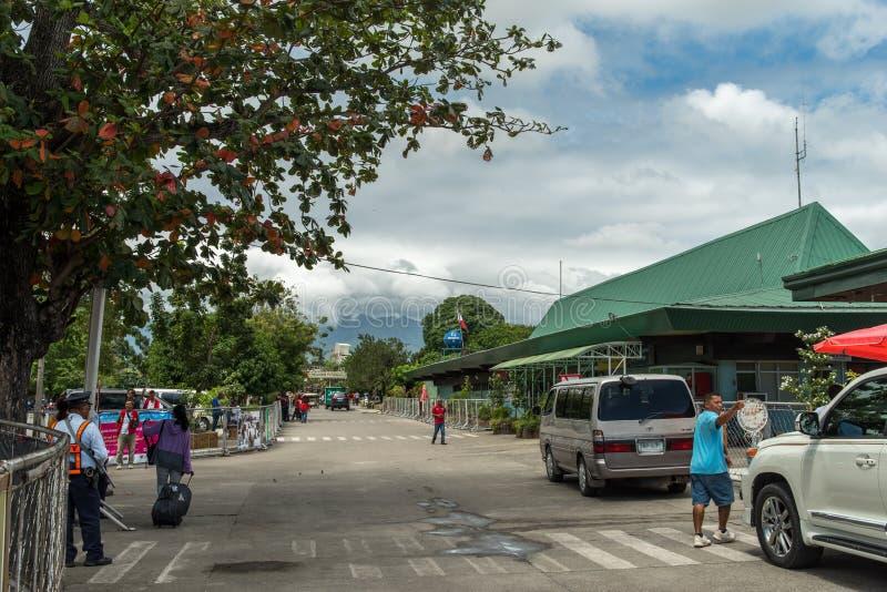 Aeroporto exterior de Dumaguete imagem de stock royalty free