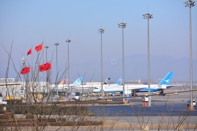 Aeroporto internacional de Beijing foto de stock