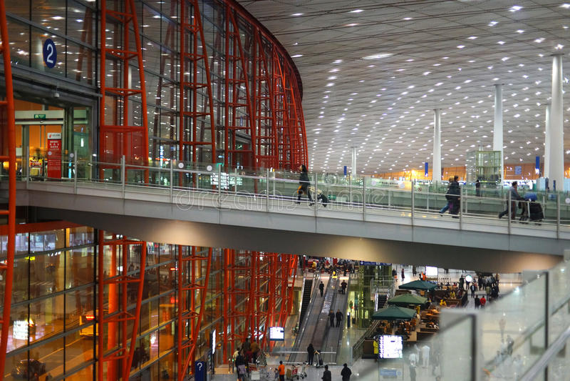 Aeroporto internacional de capital de Beijing fotografia de stock royalty free