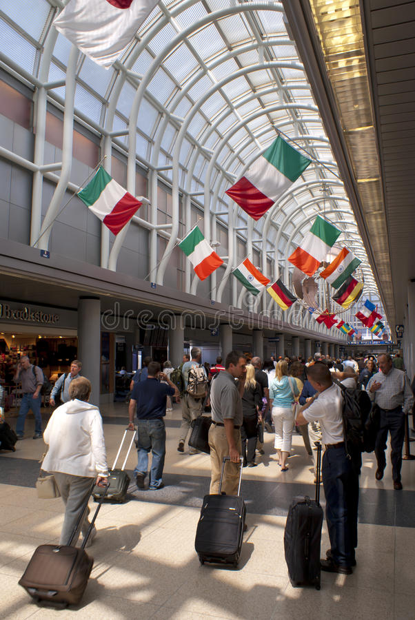 Aeroporto internacional de Chicago O'Hare fotografia de stock
