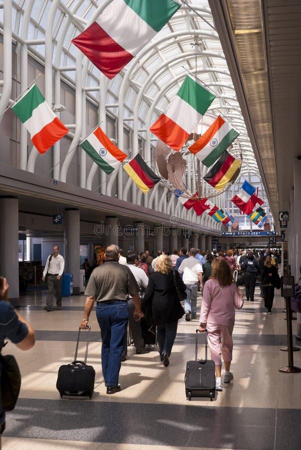 Aeroporto internacional de Chicago O'Hare imagem de stock royalty free
