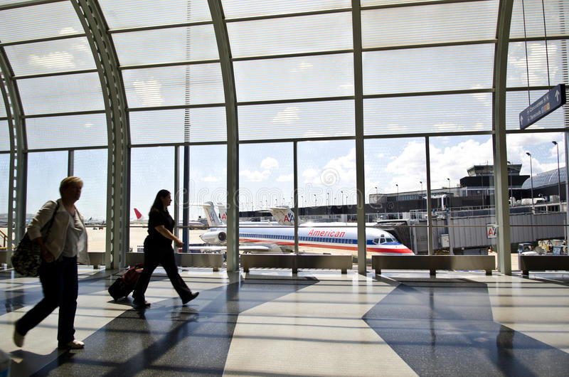 Aeroporto internacional de Chicago O'Hare imagem de stock