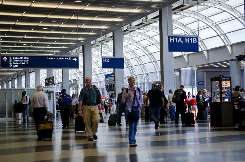 Aeroporto internacional de Chicago O'Hare fotografia de stock royalty free