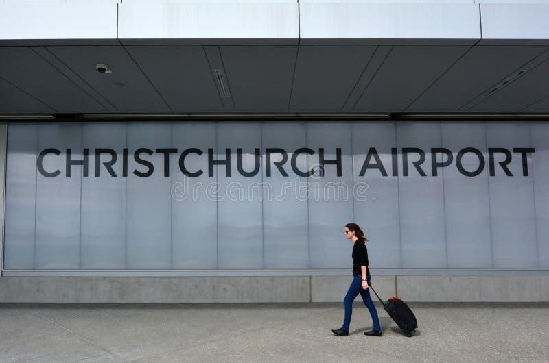 Aeroporto internacional de Christchurch - Nova Zelândia imagem de stock