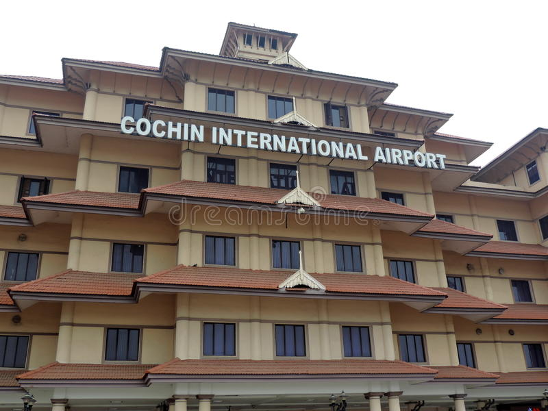 Aeroporto internacional de Cochin imagem de stock royalty free
