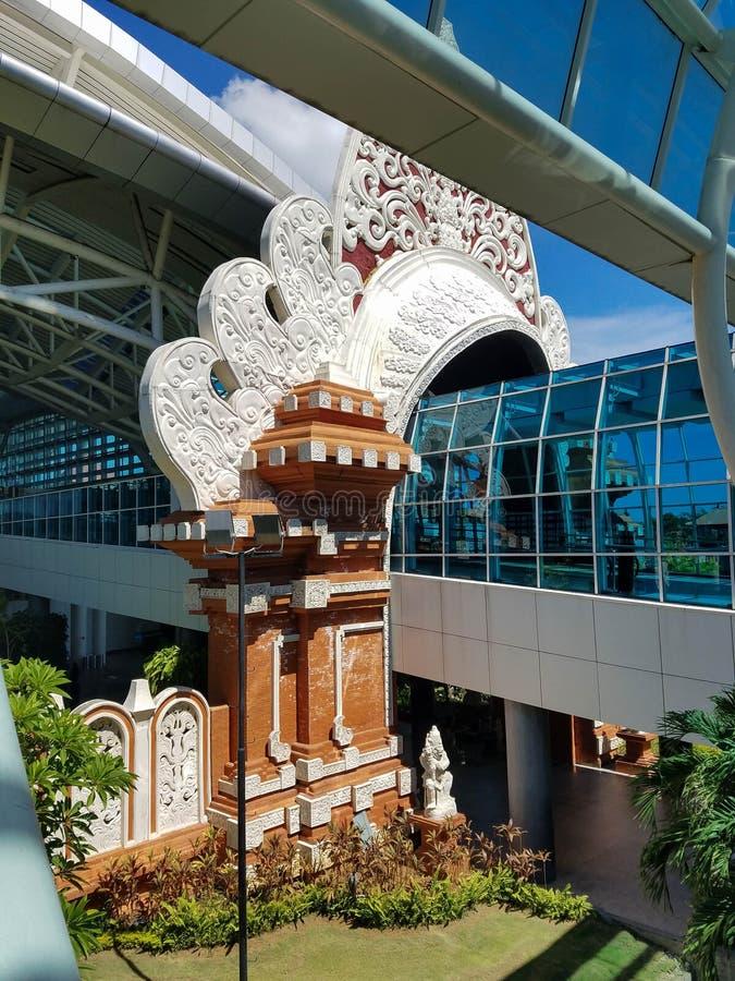 Aeroporto internacional de Denpasar em Bali, Indonésia imagens de stock