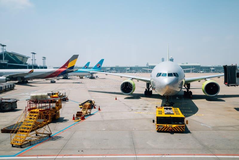 Aeroporto internacional de Incheon em Coreia imagens de stock
