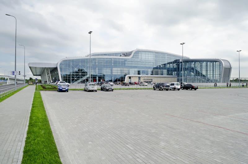 Aeroporto internacional de Lviv fotografia de stock royalty free