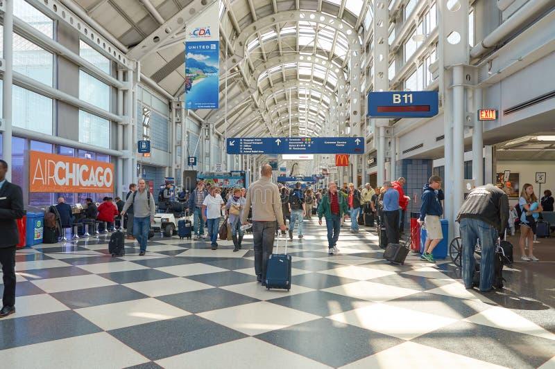 Aeroporto internacional de O'Hare fotografia de stock royalty free
