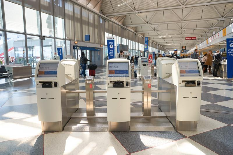 Aeroporto internacional de O'Hare fotografia de stock