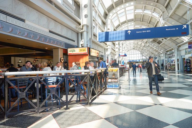 Aeroporto internacional de O'Hare imagem de stock royalty free