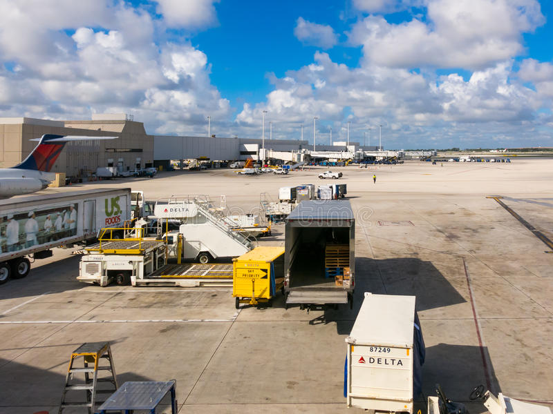 Aeroporto internacional do Fort Lauderdale, Florida, EUA imagens de stock royalty free
