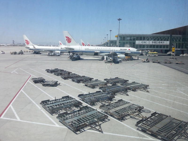 Aeroporto internacional principal do Pequim fotos de stock
