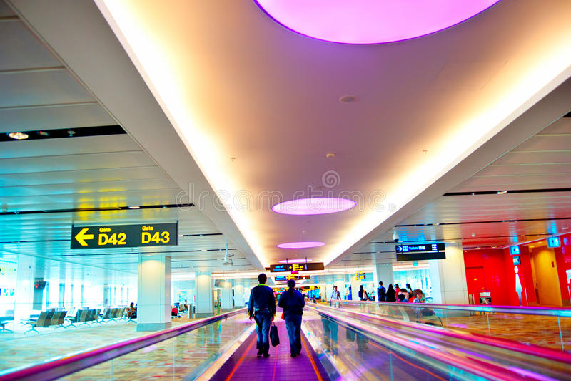Aeroporto internazionale di Changi fotografie stock libere da diritti