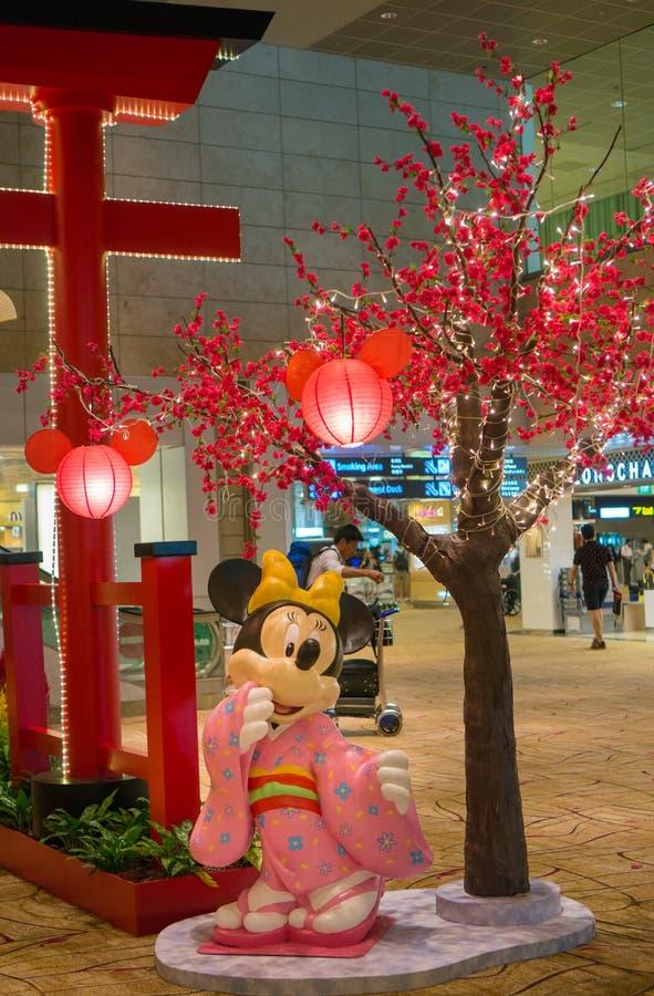 Aeroporto internazionale di Changi a Singapore fotografia stock libera da diritti