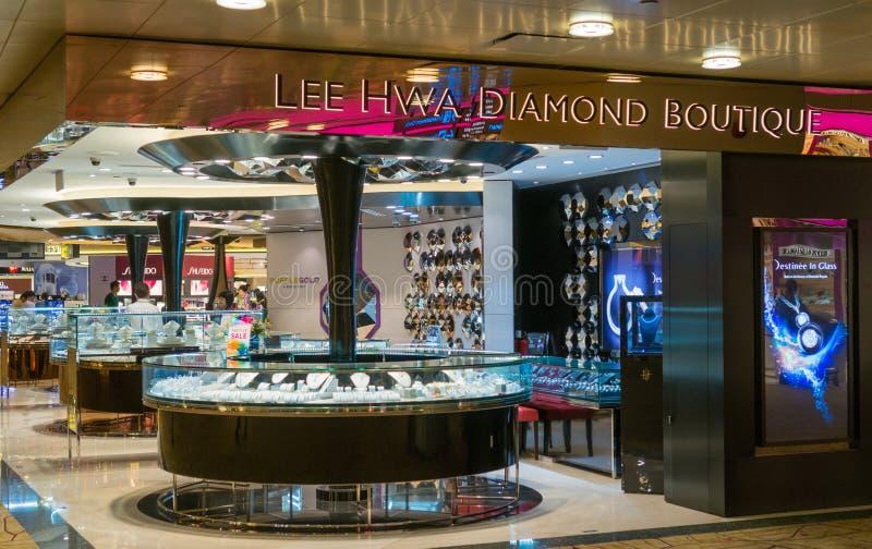 Aeroporto internazionale di Changi a Singapore immagine stock libera da diritti