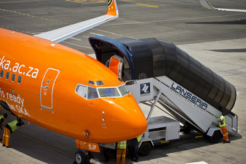 Aeroporto internazionale di Lanseria immagini stock libere da diritti