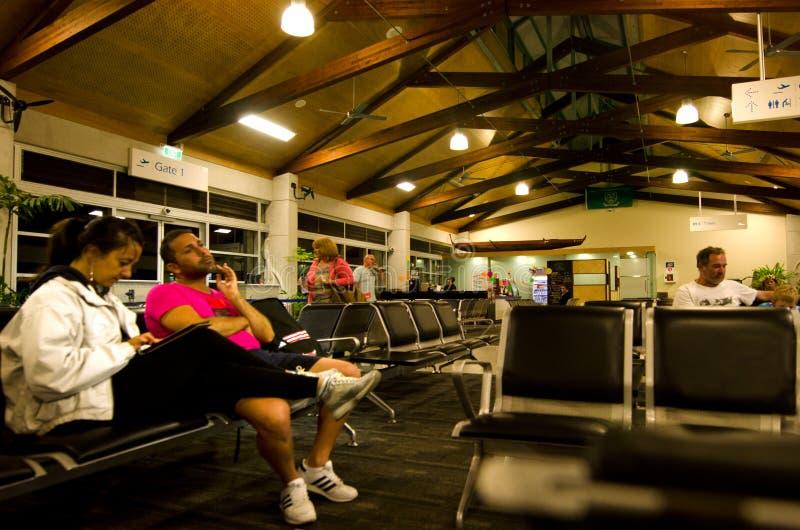 Aeroporto internazionale di Rarotonga - cuoco Islands fotografia stock libera da diritti