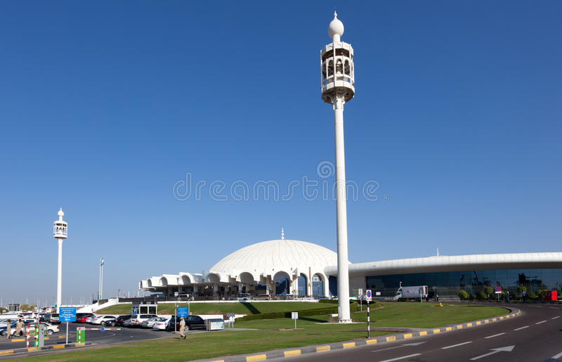 Aeroporto internazionale di Sharjah immagine stock libera da diritti