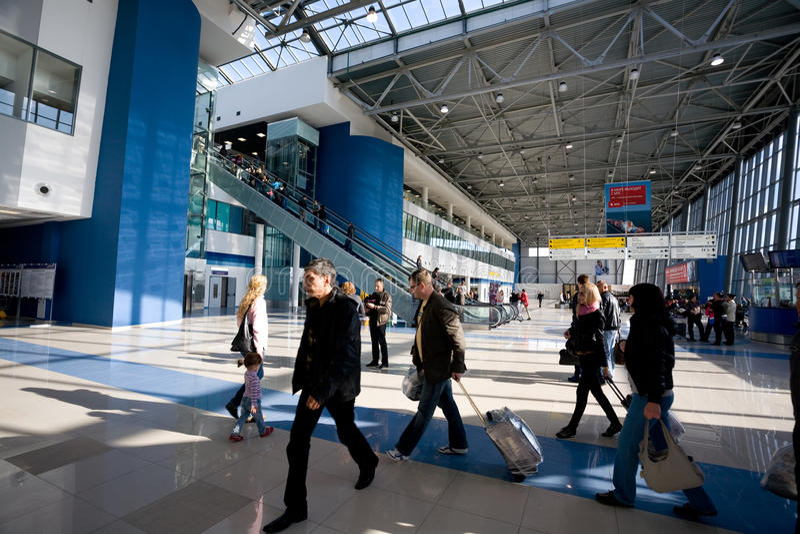 Aeroporto internazionale di Vladivostok, Russia fotografie stock