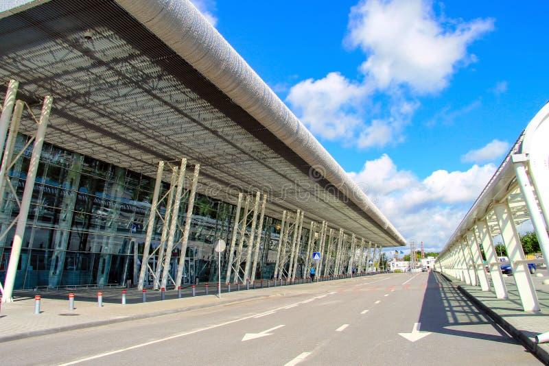 Aeroporto internazionale a Leopoli, Ucraina Danylo Halytskyi L'vov fotografia stock libera da diritti