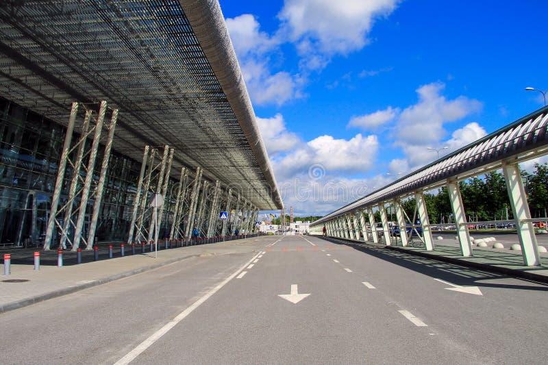 Aeroporto internazionale a Leopoli, Ucraina Danylo Halytskyi L'vov immagine stock