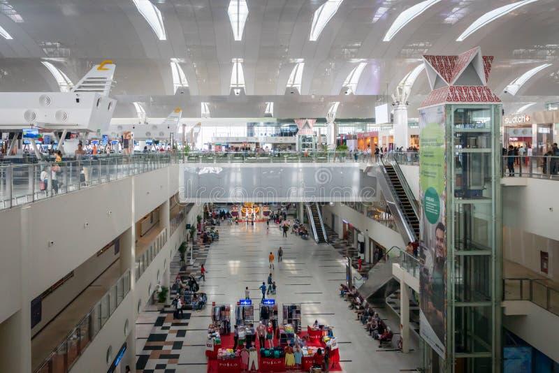 Aeroporto internazionale in Medan, la Sumatra Settentrionale, Indonesia di Kualanamu fotografia stock libera da diritti