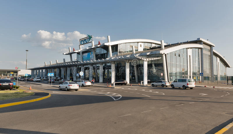 Aeroporto internazionale Zhuliany, Ucraina di Kyiv fotografia stock