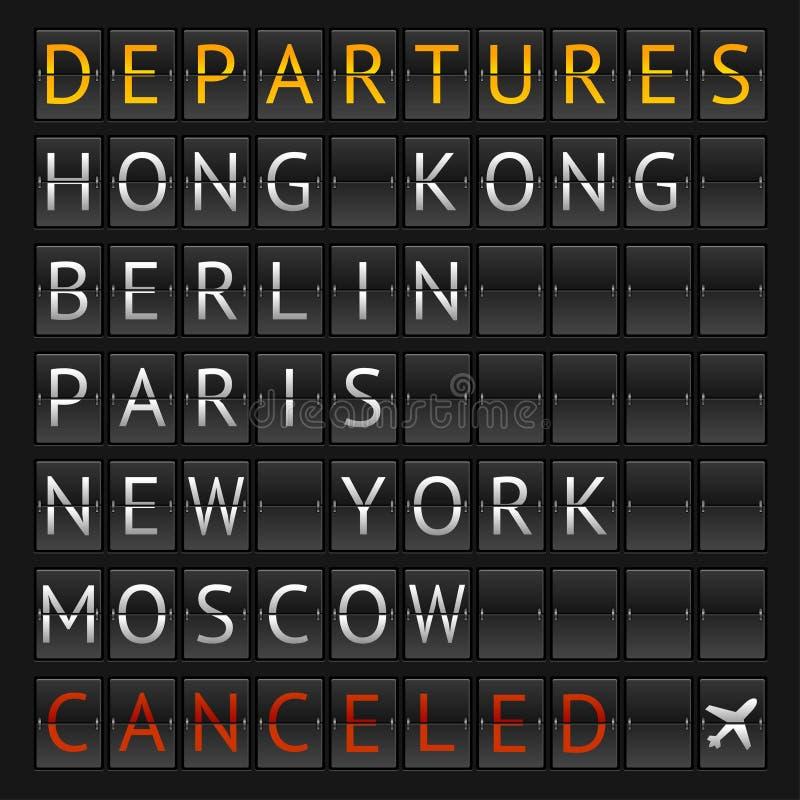 Aeroporto mecânico da cidade do calendário do vetor ilustração stock