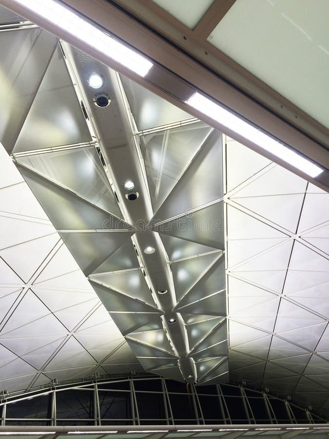 Aeroporto moderno del soffitto fotografia stock libera da diritti