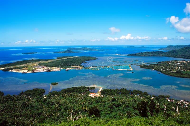 Aeroporto no console de Pohnpei, Micronesia fotos de stock royalty free