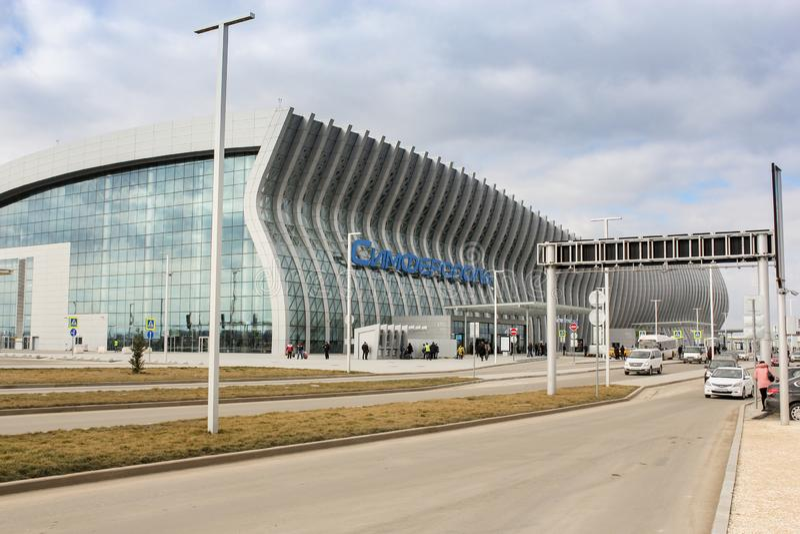 Aeroporto novo Simferopol fotos de stock