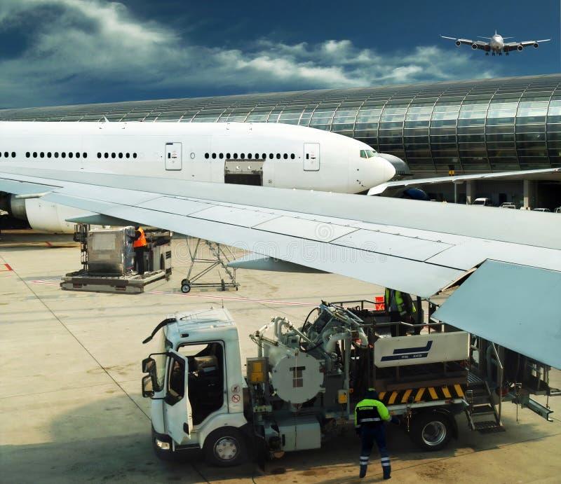 aeroporto occupato fotografie stock libere da diritti