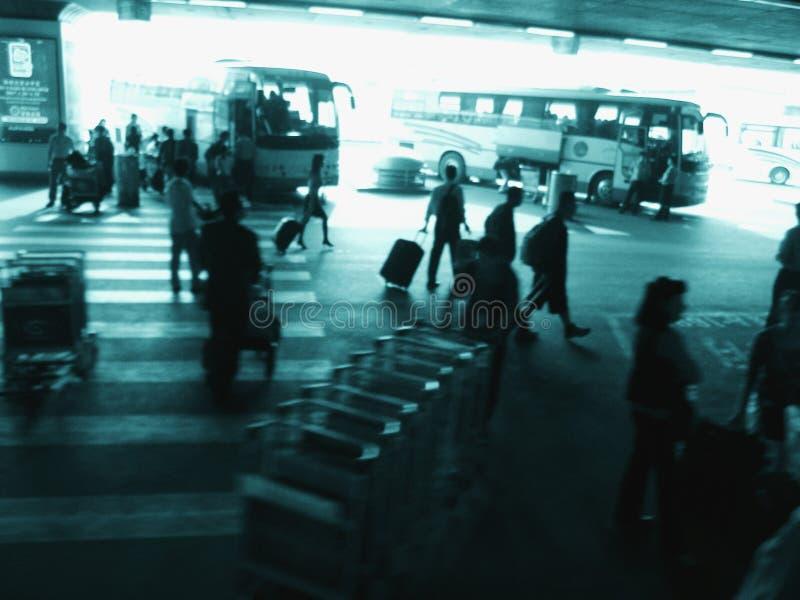 Aeroporto ocupado exterior de Beijing imagem de stock royalty free