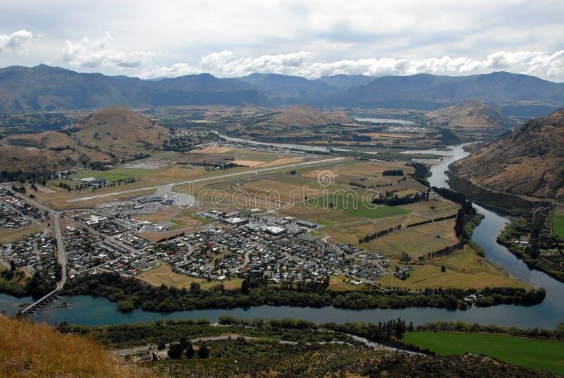 Aeroporto in Queenstown, Nuova Zelanda fotografia stock